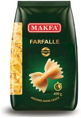 マクファ ブロンズダイス ファルファッレ 400g ショートパスタ ハラル認証 コーシャー認証 Makfa Bronze die Farfalle pasta 400 gr Halal & Kosher Non-GMO