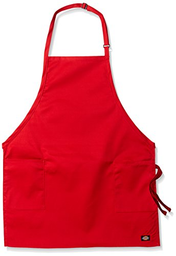 Dickies Chef Women's 3 Pack Adjustable 2 Pocket Bib Apron, Red, One Size - Red 3 Pocket Bib Apron