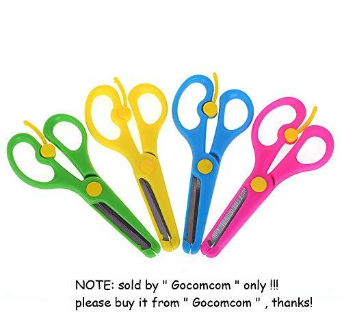 Safety Anti-Pinch Kids Scissors Cutting Tools Paper Craft Supplies ()