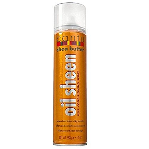 Cantu Shea Butter Oil Sheen Spray, Aerosol 9.5 oz. (Pack of 2)