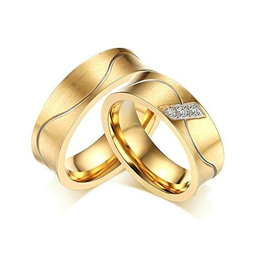 Stainless Steel Rings for Women Mens Rings 6MM Wedding Rings Engraved Women Size 10 & Men Size 9