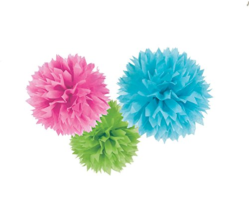 Multi Fluffy Paper Decorations, 16
