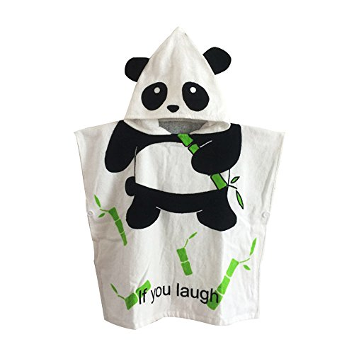 KiKi Monkey Animal Dress Up Costume Cloak Cape Hooded Bath Beach Towel Spa Bathrobe For Kids (Panda)