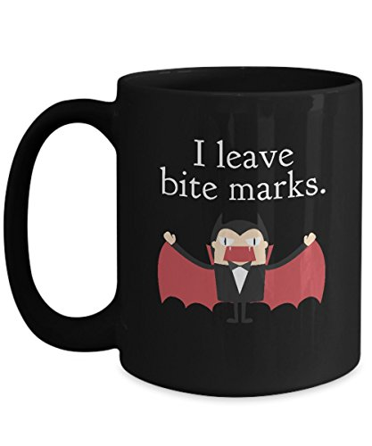Halloween Vampire I Leave Bite Marks Coffee Mug Cup]()