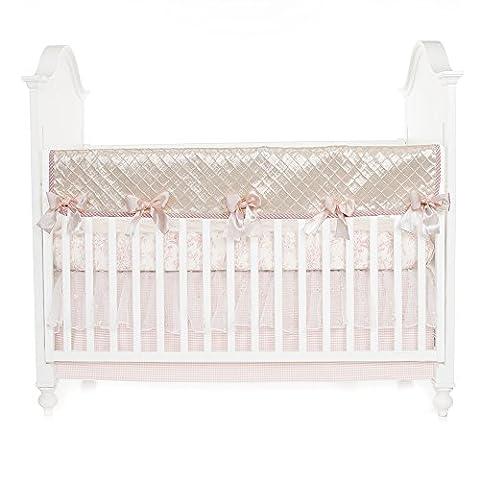 Glenna Jean Cottage Collection Rose Convertible Crib Rail Protector, Pintuck, Long - Glenna Jean Baby Crib