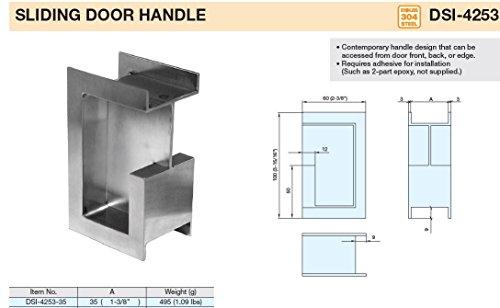 Sugatsune, Lamp DSI-4253-35 Door Hardware, 304 Stainless - Import