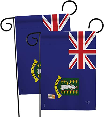 Breeze Decor GP108337-BOAE British Virgin Islands Flags of The World Nationality Impressions Decorative Vertical 13