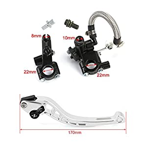 "NEVERLAND Universal Motorcycle 7/8"" 22mm Front Brake Clutch CNC Master Cylinder Fluid Reservoir Levers for Sport Street Scooter Dirt Bikes by NEVERLAND"