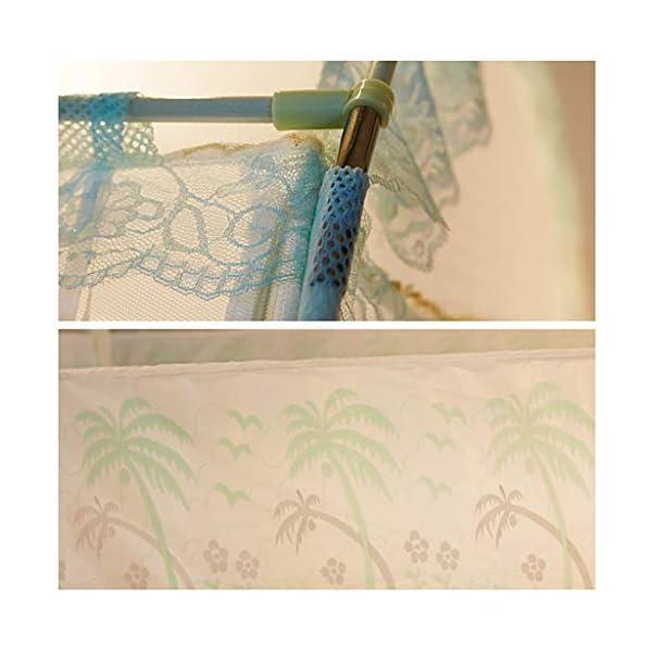 Yurt casa Doppio Semplice 1,5 m tenda zanzariera, facile da installare 1,8 m letto con staffa Dormitorio zanzariera… 7 spesavip