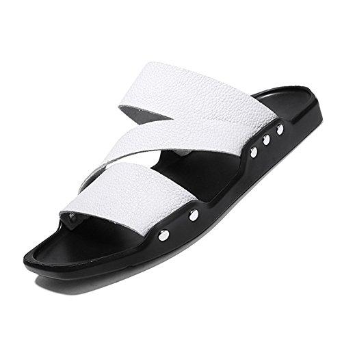 Dimensione estive pantofole uomo Pantofole leggera esterno per per Scarpe Sport Suola e Bianca Colore da spiaggia Sandali 39 2018 Sandali Uomini Giallo OqWYPwaHzn