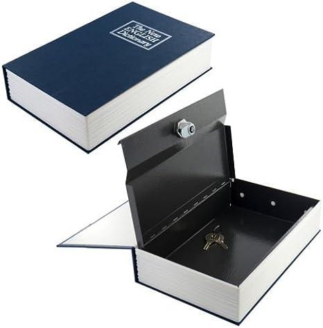 Zizzi - Nuevo Diccionario Secreto Libro Seguro Seguridad Oculta Dinero Caja Efectivo joyería Cerradura shopmonk (Rojo): Amazon.es: Hogar