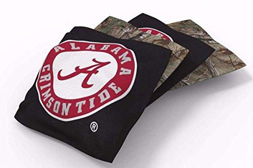 - PROLINE 6x6 NCAA College Alabama Crimson Tide Cornhole Bean Bags - Real Tree Design (A)