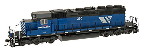 Ho Montana Rail Link (EMD SD40-2 w/DCC -- Montana Rail Link (blue, black, white, W-Lion Logo))