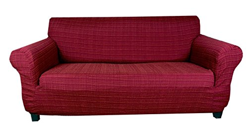 Tiffy - Stretch Sofahusse (Bordeauxrot) hussen für sofa 3 sitzer