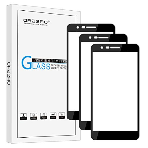 [3 Pack] Orzero For LG Phoenix Plus (AT&T) / LG K30 / K10 Plus 2018 / K10 Alpha 2018 / K10 2018 Tempered Glass Screen Protector, 2.5D Arc Edges 9H Full Coverage [Lifetime Replacement Warranty]