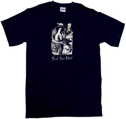 Feed Your Head Mushroom Mens Tee Shirt 2Xl Black