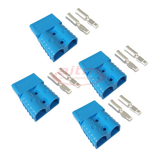 - 120A Battery Connector Quick Connect Battery Modular Power Connectors Quick Disconnect (Blue)