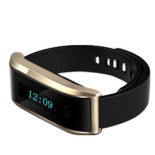 Chinatera Smart Armband Sport Watch Armband Schlaf Überwachung für Android (Golden)