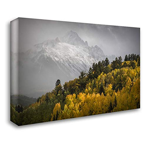 Colorado, Sneffels Range Mt Sneffels at Sunset 40x28 Gallery Wrapped Stretched Canvas Art by Grall, Don