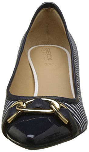 Geox Women's D Bibbiana D Closed Toe Heels Blue (Navy/White C4211) qIKh0eZpZ