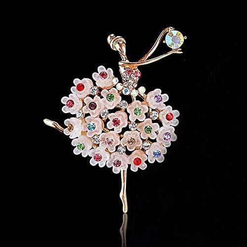 1 Pezzo per Donne e Ragazze Spilla a Forma di Ballerina Stile Vintage con Cristalli Wimagic