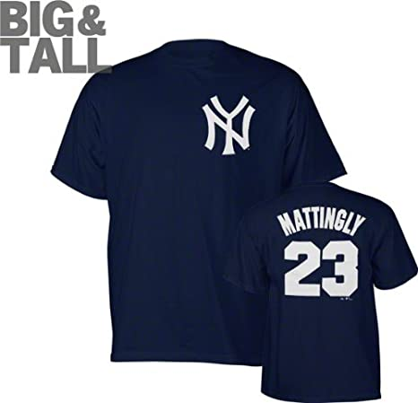 official photos 99246 be40e Majestic New York Yankees Don Mattingly Big Jersey T-Shirt