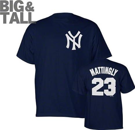 official photos 57115 b8d04 Majestic New York Yankees Don Mattingly Big Jersey T-Shirt