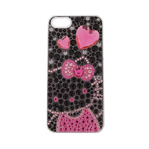 Hello Kitty Case for iPhone 5S iPhone 5 iPhone SE (Black) (Iphone 5 Cases Kitty Hello)