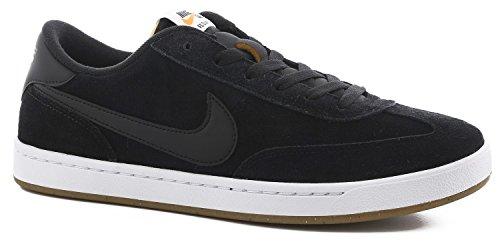 Nike Mens Sb Fc Scarpa Da Skate Classico Nero / Nero / Bianco / Arancione Vivo