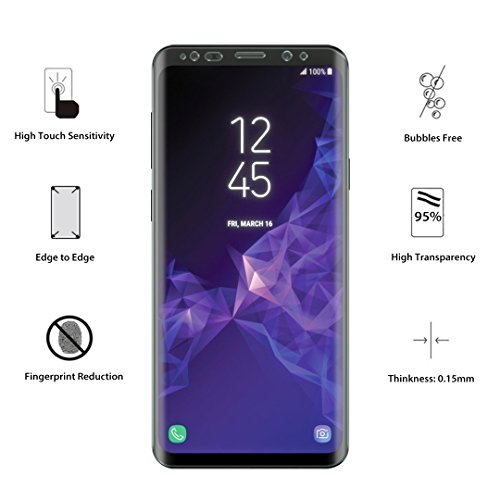 LK [3 PACK] Samsung Galaxy S9 Plus Screen Protector (Case Friendly), [Full Coverage] PET Soft Flexible TPU film with Lifetime Replacement Warranty