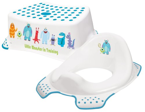 Disney Monsters Toddler Toilet Training Seat & Step Stool Combo - Yellow