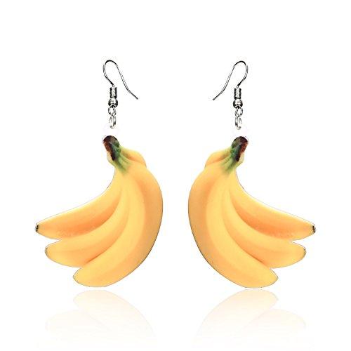 Trendy Statement Creative Funny Lifelike Fruits Acrylic Earrings