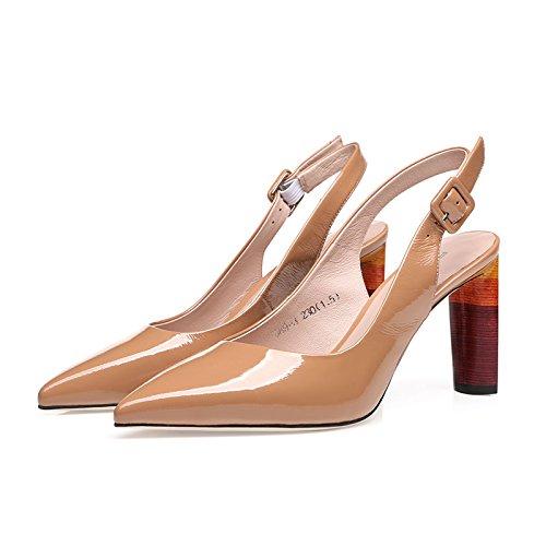 Vivioo Dames Hoge Hakken Sandalen Sandalen Met Hoge Hakken Dames Shoesbaotou Sandalen Zomer Gesp Met Ruwweg Met Wilde Naakt Schoenen Met Hoge Hakken Ruwe Kleur
