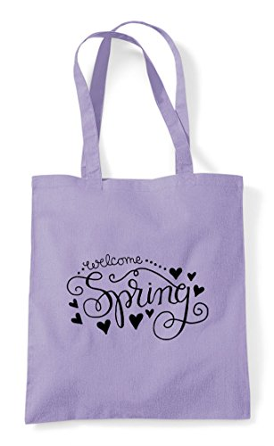Shopper Welcome Statement Bag Tote Spring Lavender xwZ7O8q