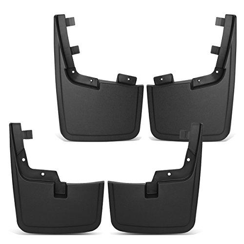 For Ford F150 w/o OE Wheel Lip Moulding Front+Rear 4Pcs Mud Guard Splash Flap Kit