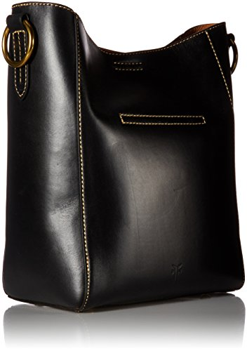FRYE Hobo Leather Bucket Black Handbag Harness rUqanZwr