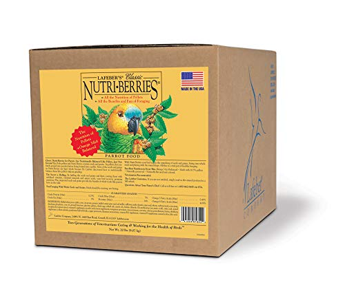 LAFEBER'S Classic Nutri-Berries Pet Bird Food, Made with Non-GMO and Human-Grade Ingredients, for Parrots, 20 lbs from LAFEBER'S