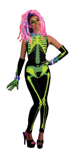 Rubie's Haunted Rave Light Activated Alien Rave Girl Costume, Black, Small]()