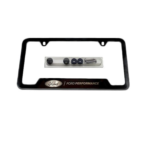 FORD PERFORMANCE BLACK STAINLESS STEEL LICENSE PLATE ()