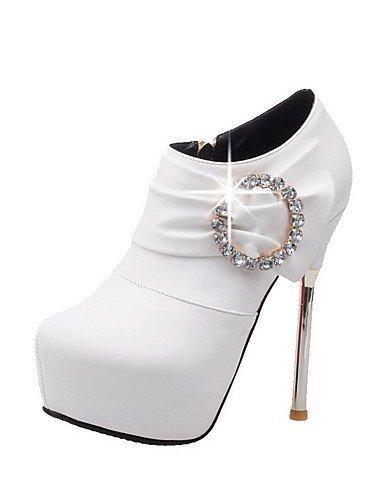 Ante uk6 Moda Blanco white Mujer white a Stiletto us8 eu39 Botas Casual cn39 Rojo ZQ Negro uk6 Botas eu39 Vestido Tacón Plataforma cn39 la us8 Confort 7xqZ8wH8