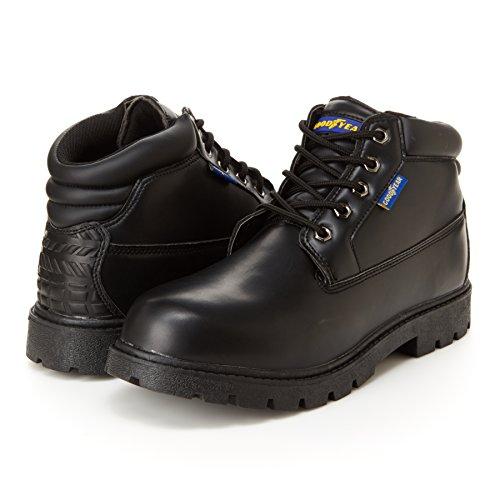 Goodyear Mason Mens Chukka Boots - Minne Skum Fot Säng, Halka Och Oljebeständigt Svart