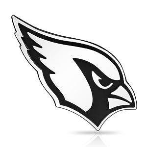 Amazon.com : NFL Arizona Cardinals 3D Chrome Metal Car ...