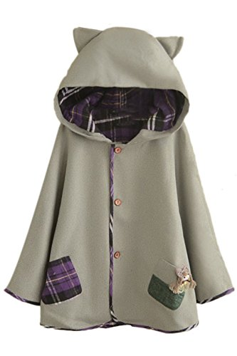 Aza-Boutique-Girls-Cute-Button-Down-Tweed-Cat-Ears-Hooded-Cape