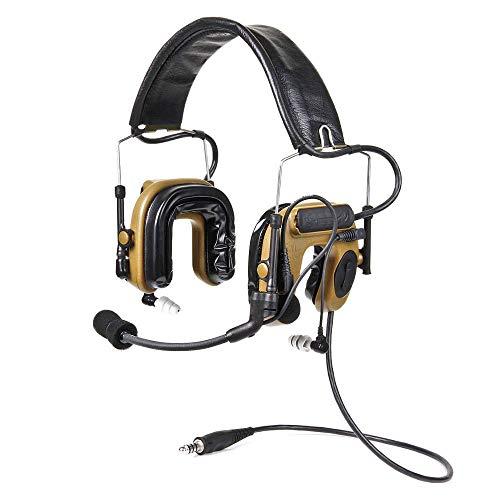 - Peltor ComTac IV Hybrid Communication Headset,Single Comm,Flexi Boom Mic,Coyote Brown