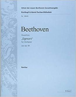 ベートーヴェン: 「エグモント」序曲 Op.84/新ベートーヴェン全集版/ヘル編/ブライトコップ & ヘルテル社/指揮者用大型スコア