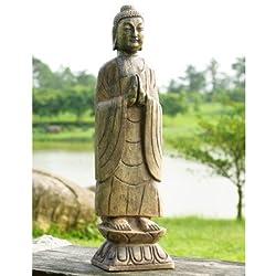 SPI Home 50720 Meditating Garden Buddha Sculpture