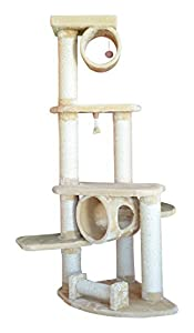 Armarkat Cat Tree Furniture Condo, Height  70 Inch To 75 Inch