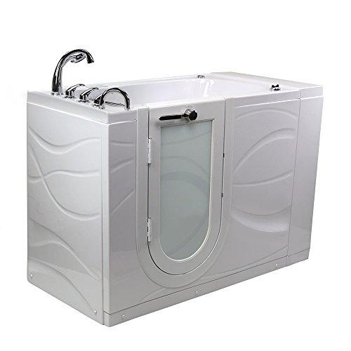 Hydro Walks (Ella Zen Acrylic Hydro Massage Walk-In Bathtub with Left Outward Swing Door, Fast Fill Faucet, 2