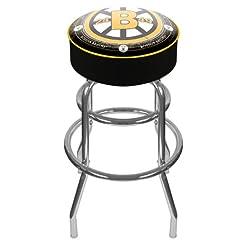 NHL Boston Bruins Padded Swivel Bar Stoo...