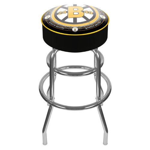 NHL Boston Bruins Padded Swivel Bar Stool